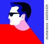 stylish male image. portrait of ... | Shutterstock .eps vector #626531324