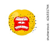 emoticon screams. open mouth... | Shutterstock .eps vector #626531744