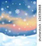 winter snowy landscape sunset...   Shutterstock .eps vector #626536868