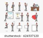 vector set of businessman... | Shutterstock .eps vector #626537120