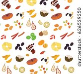 dried vector fruits food... | Shutterstock .eps vector #626539250