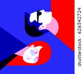 yin and yang concept. yong man... | Shutterstock .eps vector #626542724