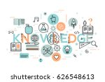 knowledge  science  school and... | Shutterstock .eps vector #626548613