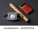 cigar  lighter and   cigar... | Shutterstock . vector #626549516
