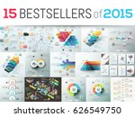 huge collection of 15 creative... | Shutterstock .eps vector #626549750