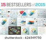 huge collection of 15 creative... | Shutterstock .eps vector #626549750
