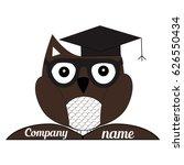 geek logo owl owl logo learning ... | Shutterstock .eps vector #626550434