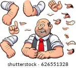 bald man with different... | Shutterstock .eps vector #626551328