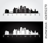 baltimore usa skyline and... | Shutterstock .eps vector #626552270