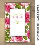 vector botanical vertical... | Shutterstock .eps vector #626553956