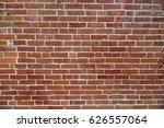 facade view of old brick wall... | Shutterstock . vector #626557064