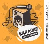 karaoke sound system  music...   Shutterstock .eps vector #626558474