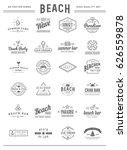 set of vector beach sea bar... | Shutterstock .eps vector #626559878