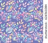 vector pattern. floral... | Shutterstock .eps vector #626561084