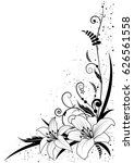 vector background with flowers...