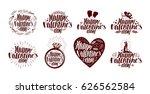 happy valentine's day  label... | Shutterstock .eps vector #626562584