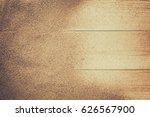 sand over wooden floor with... | Shutterstock . vector #626567900