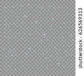 vector set of realistic water... | Shutterstock .eps vector #626569313
