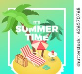 summertime tropical island ... | Shutterstock .eps vector #626570768