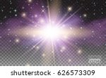 transparent glow magic light... | Shutterstock .eps vector #626573309