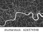 vector map of the city of... | Shutterstock .eps vector #626574548