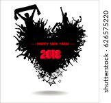 happy new year 2018. abstract... | Shutterstock .eps vector #626575220