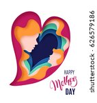 happy mothers day card.... | Shutterstock .eps vector #626579186