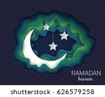 ramadan kareem background.... | Shutterstock .eps vector #626579258