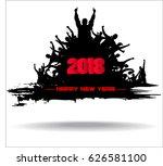 happy new year 2018 | Shutterstock .eps vector #626581100