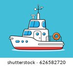 motor yacht boat vector. | Shutterstock .eps vector #626582720