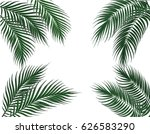 tropical dark green palm leaves ... | Shutterstock .eps vector #626583290
