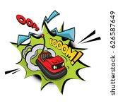 crazy bumper a car vector... | Shutterstock .eps vector #626587649