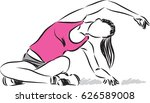 fitness woman stretching vector ... | Shutterstock .eps vector #626589008