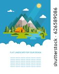 blank for text. summer morning... | Shutterstock .eps vector #626589086