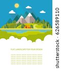 blank for text. summer morning... | Shutterstock .eps vector #626589110