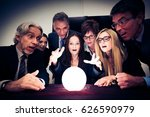 business team using a crystal... | Shutterstock . vector #626590979