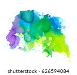 colorful abstract watercolor... | Shutterstock .eps vector #626594084