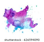 colorful abstract watercolor... | Shutterstock .eps vector #626594090