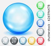 set of colored spheres with... | Shutterstock . vector #626596478