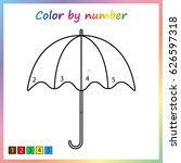 umbrella    painting page ... | Shutterstock .eps vector #626597318