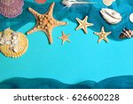 marine blue background with... | Shutterstock . vector #626600228