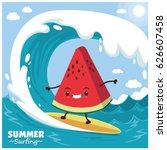vintage fruit poster design... | Shutterstock .eps vector #626607458