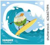 vintage fruit poster design... | Shutterstock .eps vector #626607494