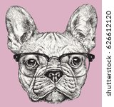 Hipster Geek French Bulldog...
