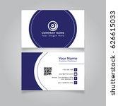 modern business card template...   Shutterstock .eps vector #626615033
