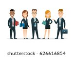 flat team of happy young man... | Shutterstock .eps vector #626616854