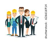 flat building team behind... | Shutterstock .eps vector #626616914