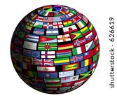 flags of all nations cover the... | Shutterstock . vector #626619