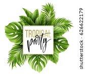 summer tropical leaf background ...   Shutterstock .eps vector #626622179