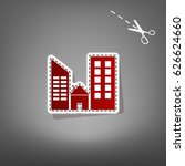 real estate sign. vector. red... | Shutterstock .eps vector #626624660